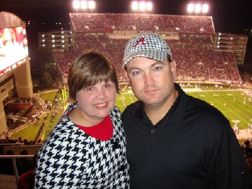 Steve and I at the Alabama/Ms State game 11/14/09