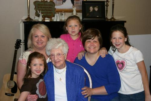 Four generations of girls!