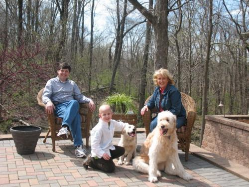 Prudy, Alex, Evan and the wonderful dogs in St. Louis!