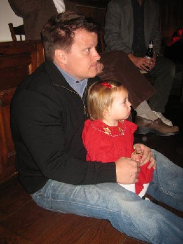 12-12-09 Pretty Brook Children's Christmas Party - Clementine w/ daddy