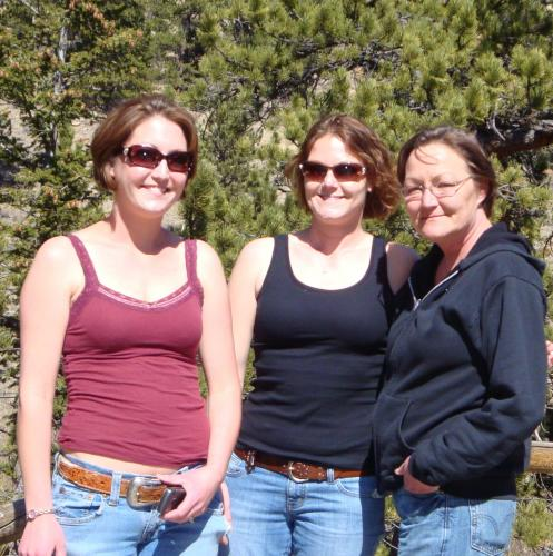 Han, me, and our mama (Julie) during our drive to Estes Park.