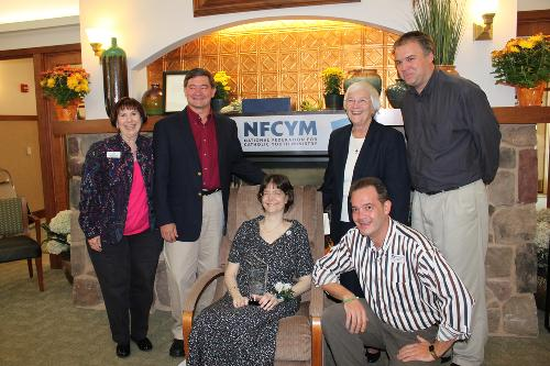 "NFCYM ""staff"" and Union Catholic's Sr. PercyLee when I received my youth ministry award -- Oct 16,2010."