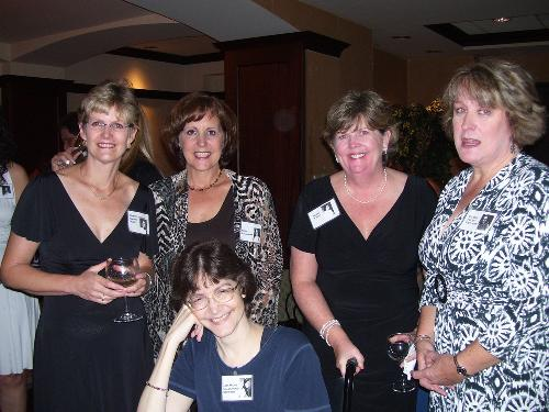 Lisa at Union Catholic reunion with Mary Beth W,, Karen S, Mary F and EIleen F