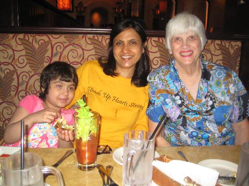 One year celebration at Cheesecake Factory with Grandma & Grandpa!