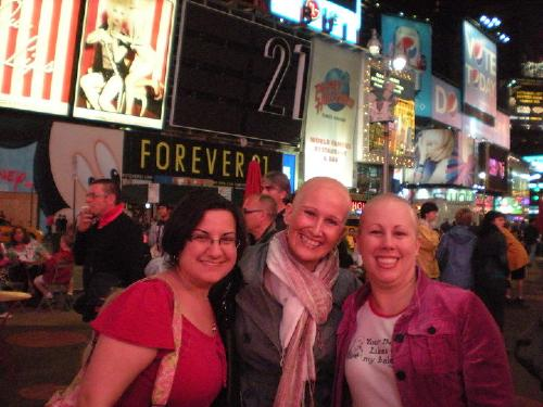 With Dorienne and Ann....my new friends I met at the OMG Cancer Conference