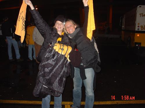Steeler game.....Brianna and me.