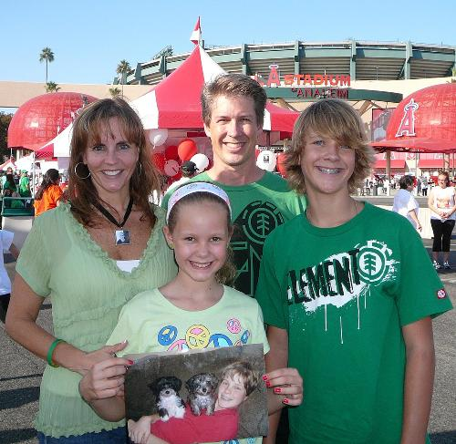 Our family at the Light the Night walk August 2009.  ^Christian^ was the OC honored memorial hero.