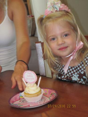 At Stella's 3rd Birthday Party--the perfect tea party for her!
