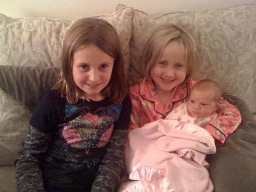 Hope with her cousins, they love her very much!