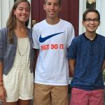 Annie, Carter, Justin - first day of junior year.