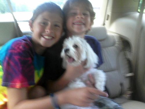 Sydney, Aidan and Josie sent me a photo just before surgery. They were on their way from Morganton.