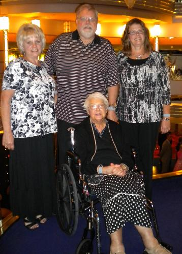 Sue, Steve, Carol, and Isabelle on Alaskan Cruise (July 10-17, 2010)