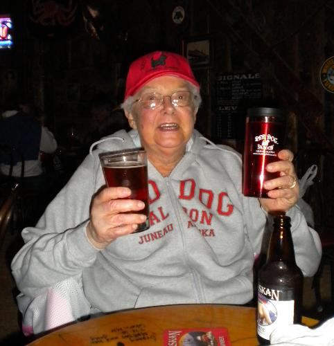 Isabelle at Red Dog Saloon - Juneau, Alaska