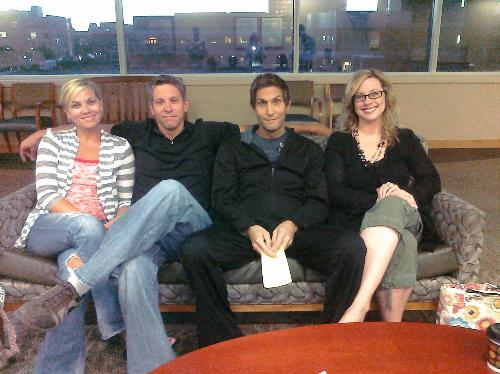 Shannon, Ryan, Chad and Cristine pre-surgery this morning. An early 5:30am arrival at the hospital.