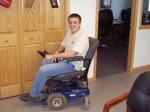My new motorized chair for getting around at work haha!