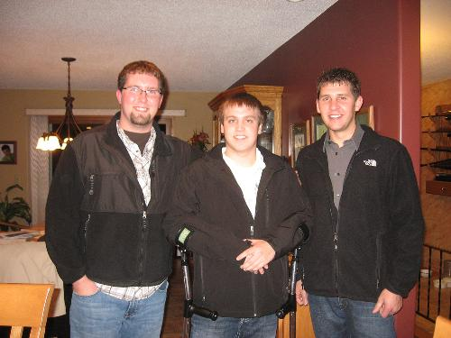 Going out with friends to Buffalo Wild Wings with Ryan Peterson & Mike Anderson - Friday night Nov. 19th.