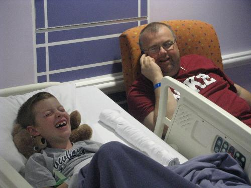 We actually had some good laughter today, 12/6/10 four days after surgery.