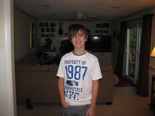 Drew, first day of 7th grade!