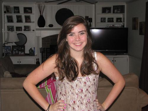 Jessie, first day of 10th grade!