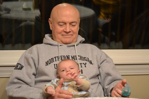 Ken with grandson, Cody (2 months old)
