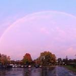 Wow!  The rainbow extends from one end of Totino-Grace to the other!  Thanks Rachel!
