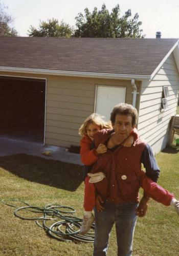 Me and my dad when I was younger outside on a Saturday morning! I miss him so much!!