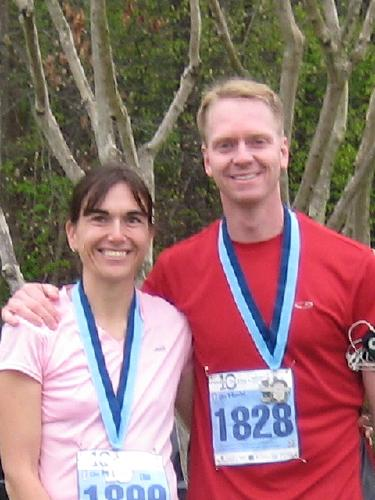 Steve and I ran in a 10 mile race less than 2 months ago.