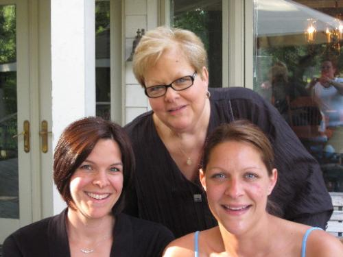 Tracee (oldest daughter), Me, Rachel (youngest) from L to R