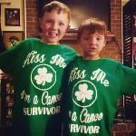 Patrick  and Collin in their St. Paddy's day shirts!