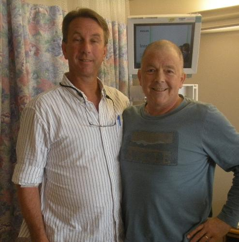 Chip and his donor brother, Billy Stam. He is A+ and I am O+, but I will soon have A+ blood. That is amazing.