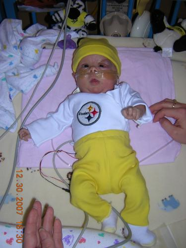 Let's Go Steelers! Would you believe a Browns fan bought me this outfit.