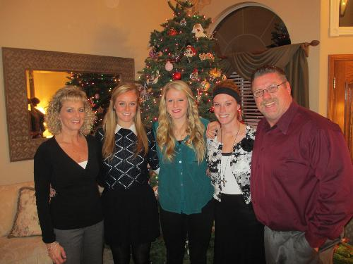 The Doniak Family in front of our Christmas tree :)