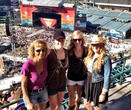 At the Kenny Chesney Tim McGraw Concert at Angel Stadium!