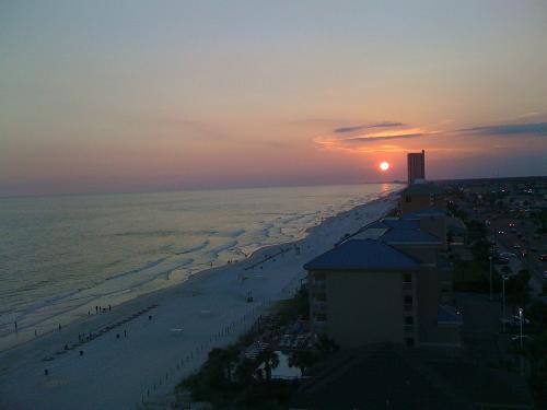 Sunset at Panama City Beach - June 26 (one month prior).