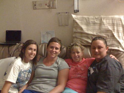 Aunt Amy, Aunt Julie, Me, Aunt Wendy - July 23
