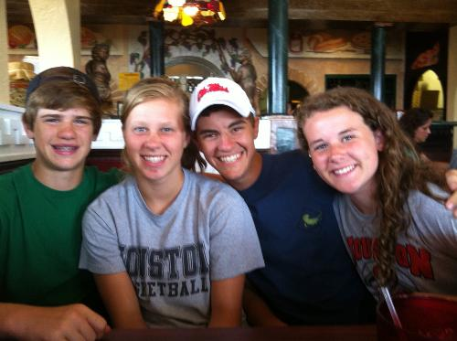 BFF, Trey, Julianne, Cody, and Leighton