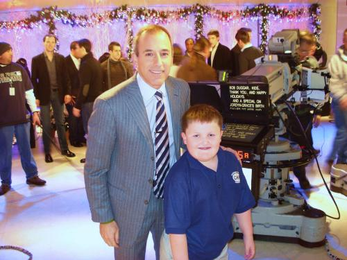 Nick and Matt Lauer after the Today Show interview.