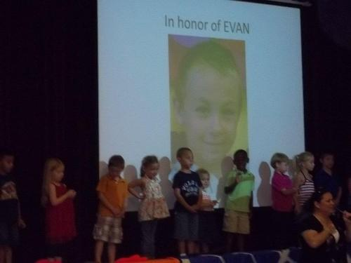 Evan's PreK Tribute to Evan at the end of the year program.  May 2012