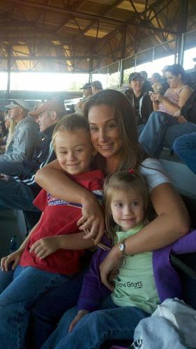 Evan, Mommy and a friend at a Sand Gnats Game, April 2012 before his diagnosis