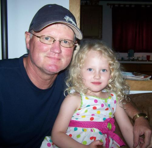 Papa and Raegan  June 2012