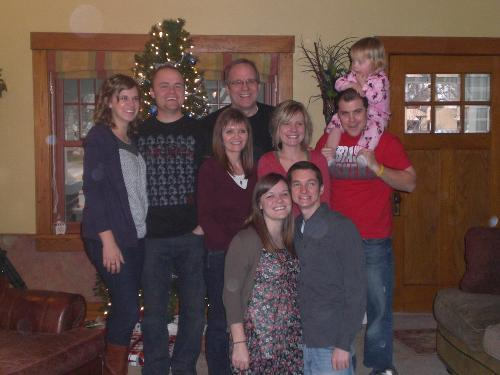 The Hedlund family at Christmas 2010