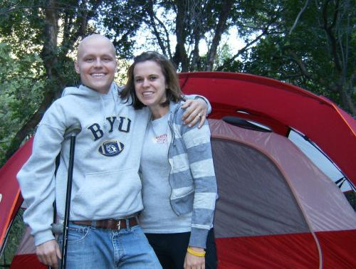 Mel and I camping, one of our favorite things to do.