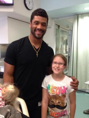 Ella and Russell Wilson!