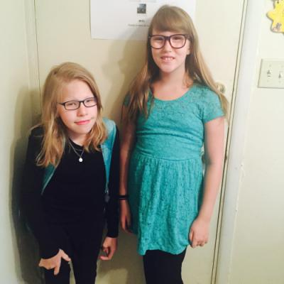 8th and 4th! First day of school.