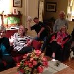 Super Bowl Party 2016 at the Lehman house. Some of the fans and party-goers: Libby, Carol, Bill Stallings, Lester, Cathy and Bill Arnold. Go Broncos! 2-8-16