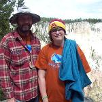 Russ and Taylor in Yellowstone.  Attending Big Sky Kids camp in Montana 6/2014