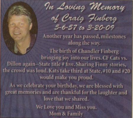 We miss you so much, hard to believe you've been gone 3 yrs already. We think of you daily & share memories.