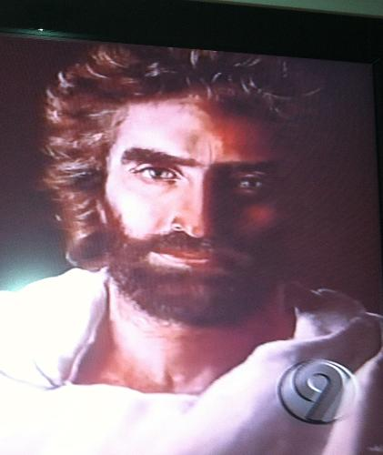 "Claimed to be the closest likeness of Jesus per Colton Burpo from book ""Heaven is for Real"".  A GREAT read."