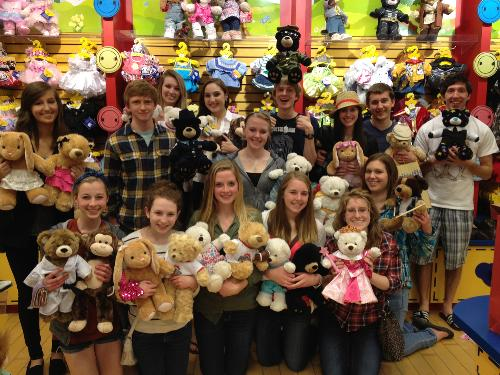 Some of Janet's friends made bears to donate to Children's in Janet's name. Thanks to Franklin U for this!