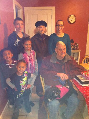 My Family with Mammy & Pappy at Christmas.
